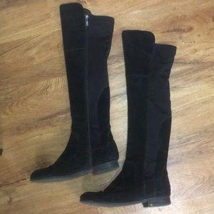 FRANCO SARTO 7 suede stretch knee high boots